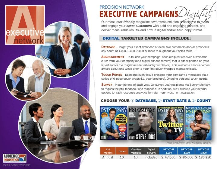 network options, Audience Innovation® –Network Options, Audience Innovation®