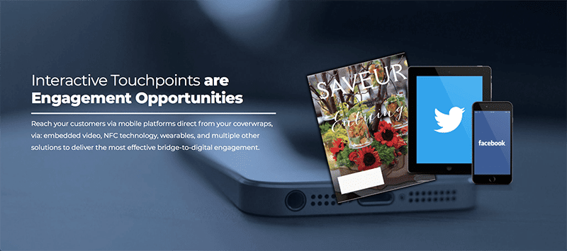 Interactive Targeting Solutions for Magazine Cover Wrap