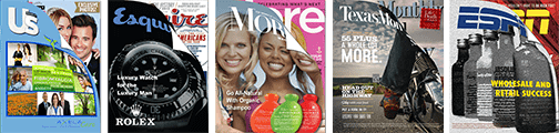 magazine cover wrap marketing